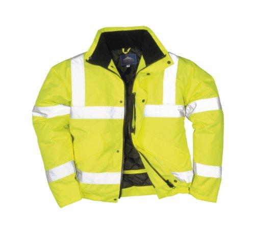 Portwest - Chaqueta de aviador con bandas reflectantes, color amarillo