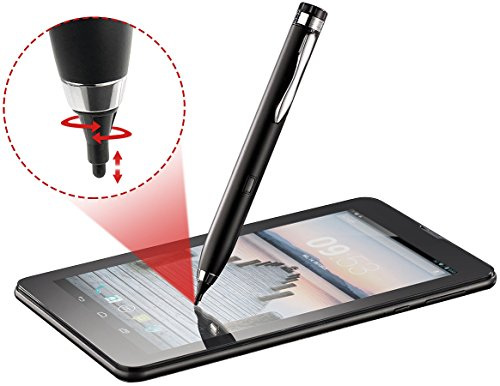 Callstel Stylus Pen Android: Aktiver Touchscreen-Eingabestift für iPad, iPhone & Android, 2 mm (Aktiver Stylus) (Stylus Ipad 2)