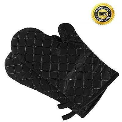 Voyage Premium Anti-Rutsch Ofenhandschuhe (2er Set) bis zu 240 °C - Silikon Extrem Hitzebeständige Grillhandschuhe BBQ Handschuhe - Backofen Handschuhe, zum Kochen, Backen, Barbecue Isolation Pads