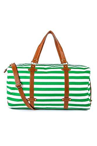Kleio Unisex Striped Dufle Weekend Bag