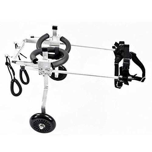 Hund Rollstuhl verstellbares Hinterbein Sportwagen Behinderte Hundehilfe für kleine Hunde 2 Räder (Size : (Rollstuhl Kostüm)