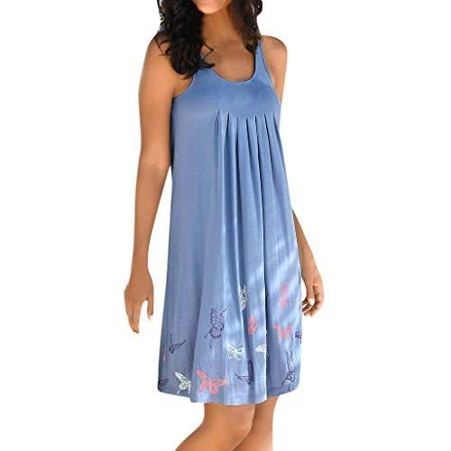 UFACE Damen Kleider Lang Blau Kleid Lang Sommer Damen Kleider Langarm Knielang Kleid Lang Grün Damen Kleider Lang Elegant Festlich Kleid Lang Weiß
