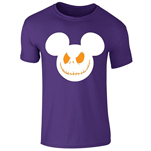 oys Girls Scary Smile Mouse Haloween Costume T Shirt Top Tee (Kids 5-6 Years) Purple ()