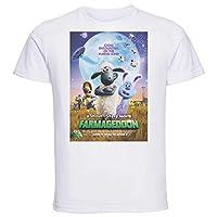 Instabuy T-Shirt Unisex - White Shirt - Playbill - shaun the sheep movie - farmageddon variant 2 Size Extra Large