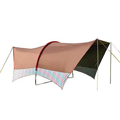 JIANFEI Camping Zeltplanen Tent Tarp Zelt Wasserdichte Regenschutz Shelter Dschungel-Abenteuer Strandpicknick Mobile Garage, 4 Farben (Color : B, Size : 600x600cm) - Shelter-garage