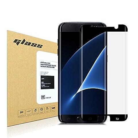 Samsung Galaxy S7 Edge Protecteur d'écran,HoPerain[couverture 3D] [verre trempé]9H dureté Protecteur d'écran,Anti Scratch,Anti-empreintes digitales