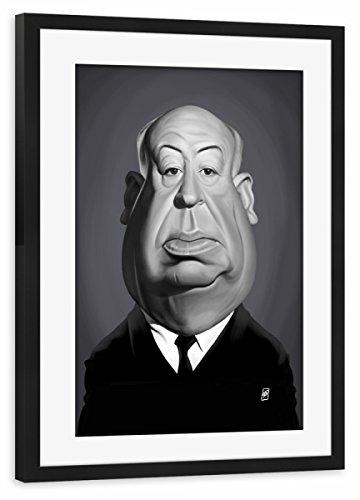 artboxONE Poster mit Rahmen Schwarz 60x40 cm Alfred Hitchcock von Rob Snow - gerahmtes Poster (Rahmen Direktoren Schwarzer)
