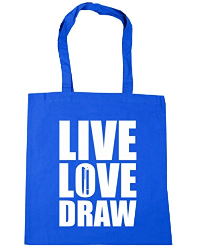 hippowarehouse-damen-strandtasche-gr-einheitsgrosse-kornblume-blau