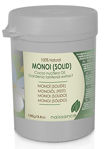 Naissance Olio di Monoi (Solido) - Olio Vegetale Puro al 100% - 100g
