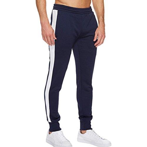 Cloom pantaloni uomo estivi, pantaloni uomo casual pantaloni leggeri estivi moda uomo sport jogging fitness ansimare casual sciolto pantaloni della tuta pantalone con coulisse(marina militare,xl)