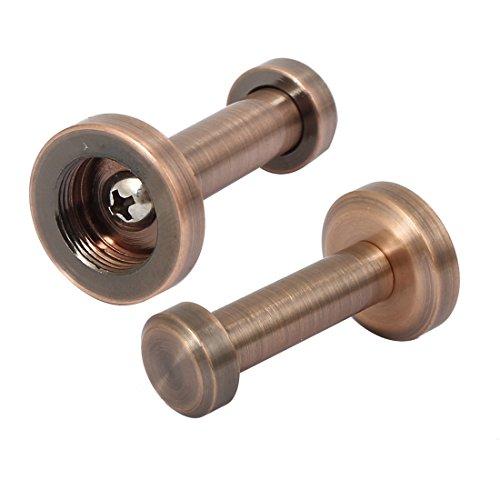 Rod-basis-hardware (sourcingmap® 24mm Dia Runde Basis Hat Kleidersack Kleiderbügel Wandhaken Kupfer Tone 2)