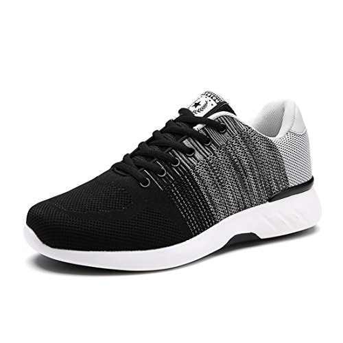 Men's Damping Comfortable Athletic Outdoor Walking Shoes Black