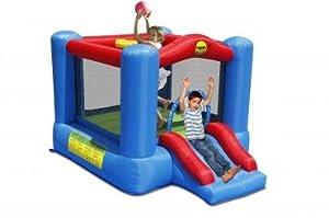 Happy Hop Slide and Hoop Bouncy Castle, (9270)