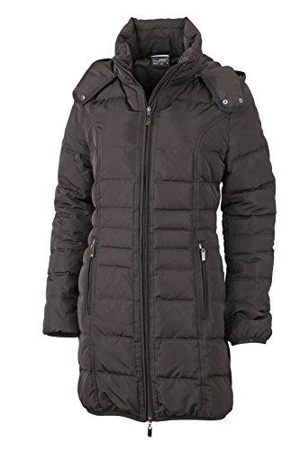 James & Nicholson Damen Jacke Daunenjacke Ladies Winter Down Coat schwarz (Black) Medium