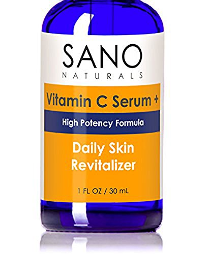 Vitamin C Serum For Face - 20% Concentration With Hyaluronic Acid - Delivers the Most Effective Antiaging Anti Wrinkle Skincare - Vit C Plus Vegan and Organic Ingredients by Sano Naturals