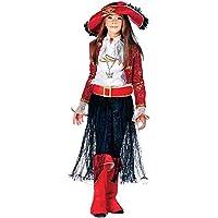 Costume di Carnevale da Lady CORSARA Vestito per Ragazza 11-12 Anni  Travestimento Veneziano Halloween 683435bd722