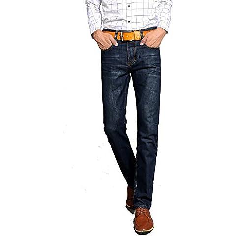 Menschwear hombre Jeans pierna recta del los pantalones vaqueros(s
