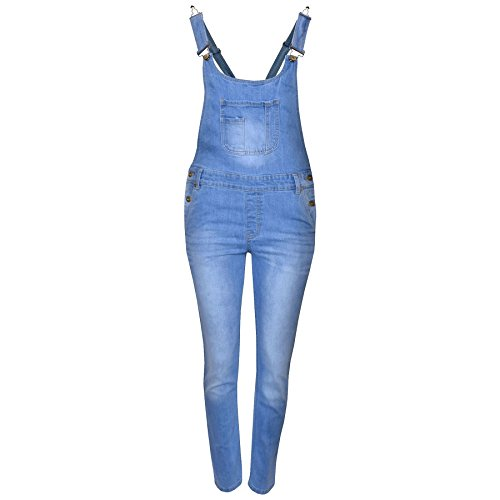 A2Z 4 Kids Kids Girls Denim Stretch Dungaree Jumpsuit Playsuit All In One Jeans New Age 7 8 9 10 11 12 13 Years