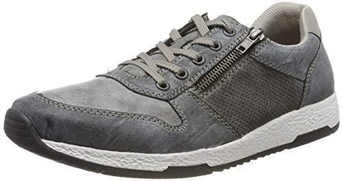 Rieker Herren B9421-46 Sneaker, Grau (Rauch/Asphalt/Staub 46), 43 EU