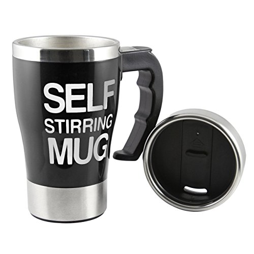ALAIX che mescola tazza di caffšš - elettrico in acciaio inox automatico Auto di miscelazione Cup - Cute & Divertente, Best for Mattina, Viaggi nero