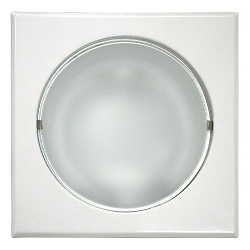 Bricolux 891147 CG - Lámpara downlight cuadrada, E27, de bajo consumo, 2...