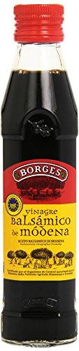 Borges - Vinagre Balsámico de Módena I.G.P., Macerado en Barricas de Roble - Botella de Vidrio de 250 Mililitros.
