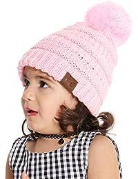 Tacobear Sombrero Bebé Niño Invierno Cálido Gorro Gorra con Pom de Punto  Beanie Warm Cap Otoño 9591196605e