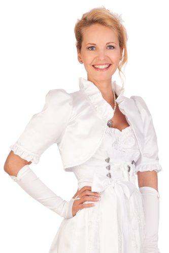 Damen Trachten Bolero - HOCHZEIT - weiß, Größe 52
