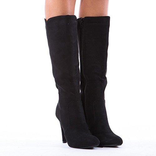 Ideal Shoes, Damen Stiefel & Stiefeletten Schwarz
