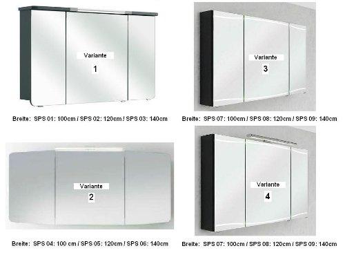 Cassca Pelipal Badmöbel Set 120cm Waschtisch Waschtischunterschrank Spiegelschrank, A036544