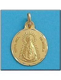 LIOR -Colgante -Medalla Oro de Ley 18k(750) Virgen de De Regla 21mm