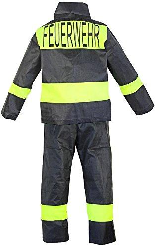 Feuerwehr-Kostüm Kinder Feuerwehr-Mann Fasching Karneval Kinder-Kostüm Gr. 4 92-98 Waschbar Polyester Schadstoff ()