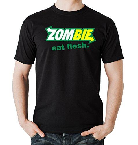 Certified Freak Zombie Eat Flesh T-Shirt Black XXL