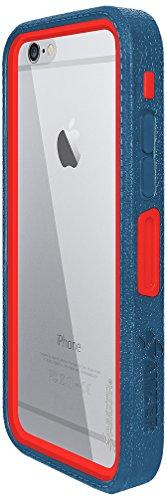 Amzer Crusta edge2edge Rugged Shell Case Cover mit Tempered Glas und Holster für iPhone 6schwarz/Space Grey _ P blau / rot