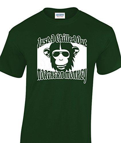 Just A Gekühlt Out Northern Monkey lustige Männer T-Shirt Flaschengrün