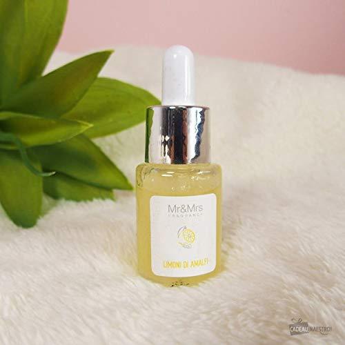 Mr&Mrs Fragrance Olio Essenziale Idrosolubile Blanc Fragranza Limoni di Amalfi - Per Diffusore ad Ultrasuoni - Flacone da 15 Millilitri