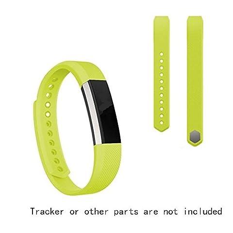 JOMOQ Bracelet de remplacement en silicone pour tracker d'activités sans fil Fitbit Alta Bracelet avec boucle de montre sécurisé, Green, petit
