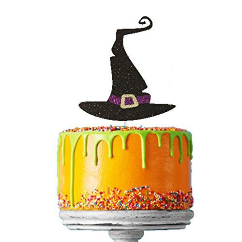 Topper para tarta de sombrero de Bruja para Halloween