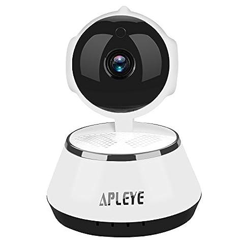 WIFI Smart Wireless Security Caméra IP HD 720P Baby Pet Monitor Microphone intégré Mobile iPhone Vision nocturne Android, fonction d'affichage à distance, enregistrement de détection de mouvement, alertes push mobile, et