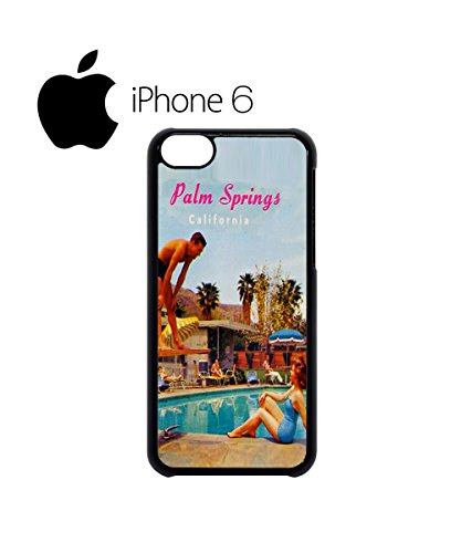 California Palm Springs Retro Swag Mobile Phone Case Back Cover for iPhone 6 Black Noir