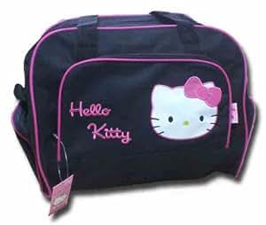 HELLO KITTY Sporttasche Tasche schwarz rosa reisetasche NEU 40x27x22 cm süss