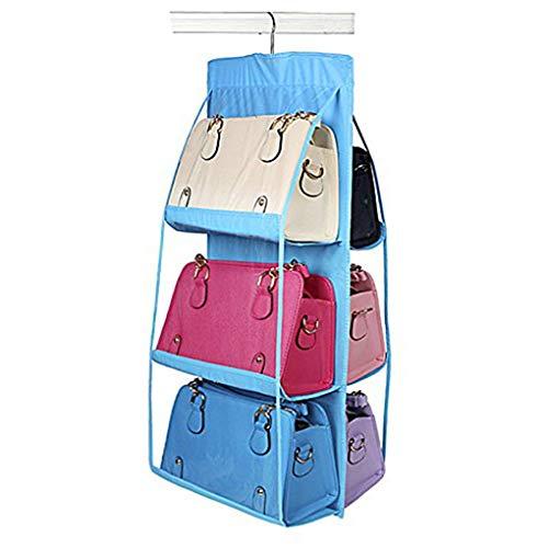 Dekorative Schuh-speicher (Zerama Family Organizer Handtaschen-Speicher Taschen Schuhe Lagerung Aufhänger Haus- und 6 Taschen Closet Rack Kleiderbügel)