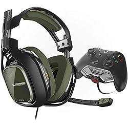 ASTRO Gaming, casque filaire A40 TR 3e génération avec MixAmp M80 pour Xbox One monté sur la manette - Vert/Noir