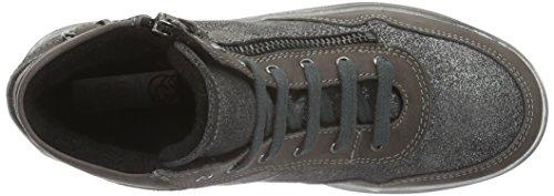 Lepi - 3986leq, Scarpe da ginnastica Bambina Grigio (Grau (3986 C.01 GRIGIO))