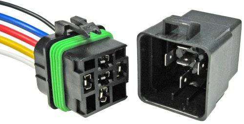 Pico 5593PT 12 Volt 40 Amp 5 Terminal General Purpose Automotive Change-Over Relay and Connector Pigtail Set by Pico -