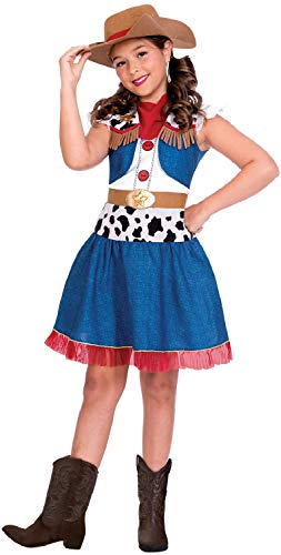 Fancy Me Mädchen Cartoon Cowgirl Wild West World Book Day TV-Film Western Halloween Karneval Kostüm ()
