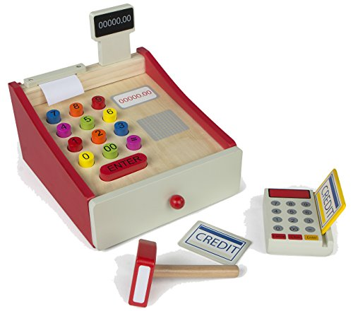 ColorBaby - Caja registradora de madera (Color Baby 43628)