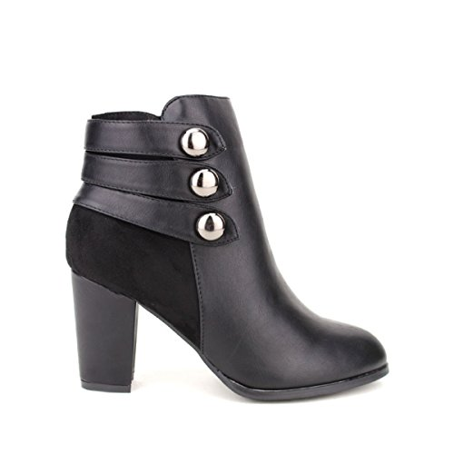 Cendriyon, Bottine noire ZELNAKA Chaussures Femme Noir
