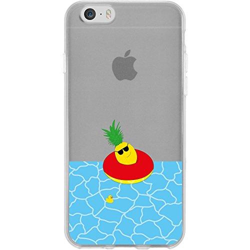 PhoneNatic Apple iPhone 6 Plus / 6s Plus Custodia in Silicone estate M3 Case iPhone 6 Plus / 6s Plus + pellicola protettiva Motif 02: Ananas