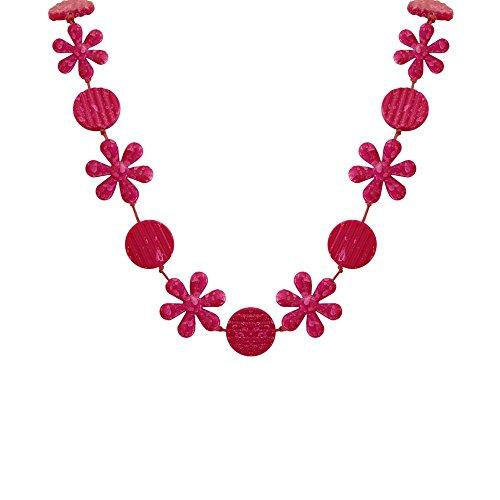 tumundo Collier Femme Rosa Chaîne Collier Bijoux de Mode Multiple Accessoires Acrylique Long Chaîne D´Emballage mod 1